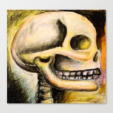 skull with colors  Canvas Print