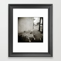 { lost } Framed Art Print