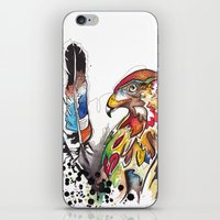 Hawk and Feathers. iPhone & iPod Skin