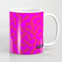 Hot Pink Cheese Doodles /// www.pencilmeinstationery.com Mug