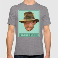 It Belongs in a Museum   Mens Fitted Tee Tri-Grey SMALL