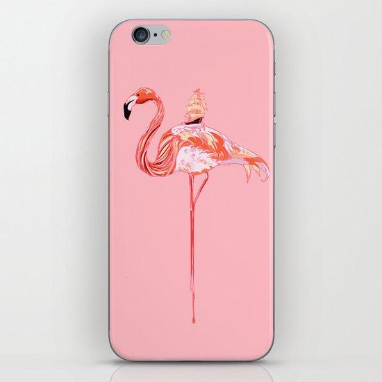 Flamingo & Sea iPhone & iPod Skin