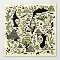 Verdant Graveyard Canvas Print