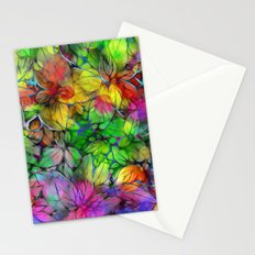 Dream Colored Leaves Stationery Cards