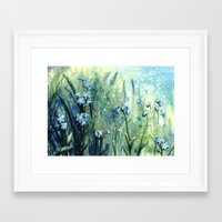 Forget Me Not Flowers Framed Art Print