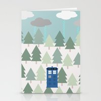 TARDIS Lands In The Paci… Stationery Cards