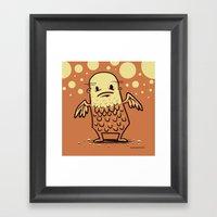 Bald Angel Framed Art Print