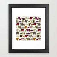 bear wolf geo party Framed Art Print