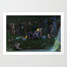 Midnight Lullabies Art Print