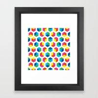 Hexagon pattern Framed Art Print