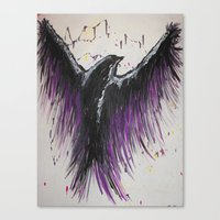 Royal Purple Soaring Bird Canvas Print