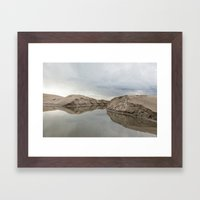 the winter storm Framed Art Print