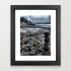 Lonely Beach Framed Art Print
