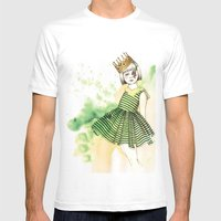 Little Queen Mens Fitted Tee White SMALL
