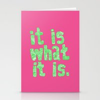 What It Is Pink Stationery Cards