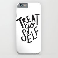 iPhone & iPod Case featuring Treat Yo Self by Leah Flores