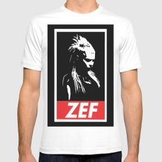 Zef SMALL White Mens Fitted Tee