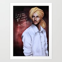 Shaheed Bhagat Singh Art Print