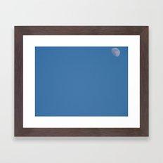 Balloon & The Moon Framed Art Print