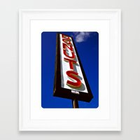 Framed Art Print featuring Beacon of donuts by Vorona Photography