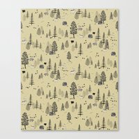 Forrest Pattern Canvas Print