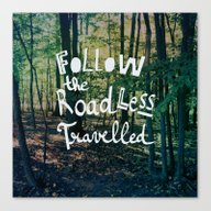 Canvas Print featuring Follow The Road Less Tra… by Sandra Arduini