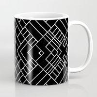 PS Grid 45 Black Mug