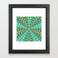 Turquoise Fields Framed Art Print