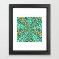 Turquoise Fields Framed Art Print