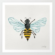 Art Print featuring Honey Bee by Cat Coquillette