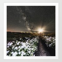 Galactic Lighthouse Art Print