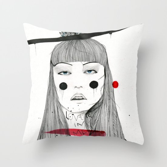 Lover in Me Throw Pillow