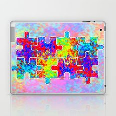 Autism Colorful Puzzle Pieces Laptop & iPad Skin
