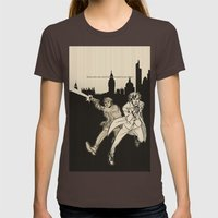Heroes Womens Fitted Tee Brown SMALL