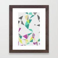 watercolor geometry  Framed Art Print