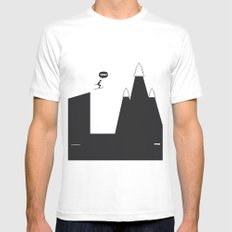 WTF? Ski SMALL Mens Fitted Tee White