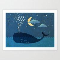 star Art Prints featuring Star-maker by Terry Fan