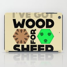 Wood for Sheep (Catan series) iPad Case
