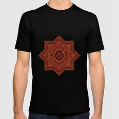The Red Moroccan Pattern SMALL Mens Fitted Tee Black