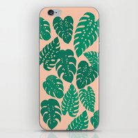 Cheese Plant - Trendy Hipster art for dorm decor, home decor, ferns, foliage, plants iPhone & iPod Skin