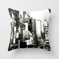 WHITEOUT : Life in the City Throw Pillow