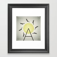 Flywheel (A is for Airplane) Framed Art Print