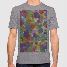 Candy Dots Mens Fitted Tee Athletic Grey SMALL