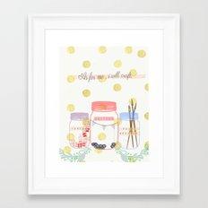 As for me... Framed Art Print