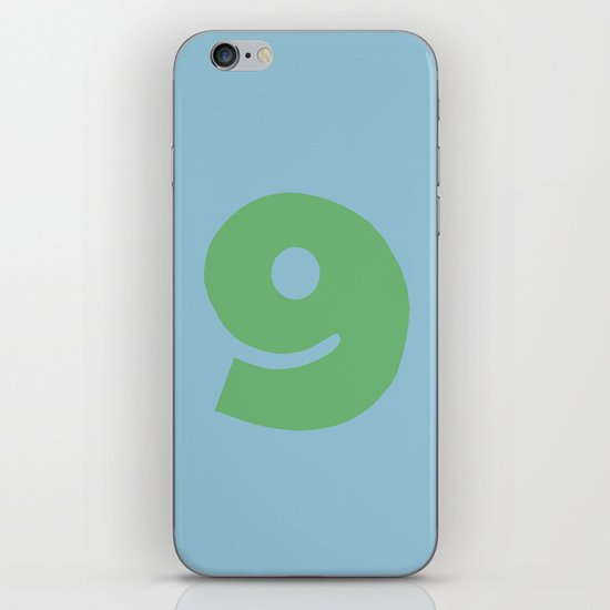 Number 9 iPhone & iPod Skin