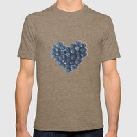 Blueberry Love Mens Fitted Tee Tri-Coffee SMALL