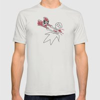Merc with a Mouth Doodle Mens Fitted Tee Silver SMALL