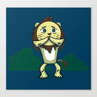 Cowardly Lion Canvas Print
