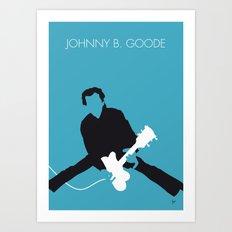 No015 MY Chuck Berry Minimal Music poster Art Print
