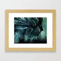 She Waits For The Rain Framed Art Print